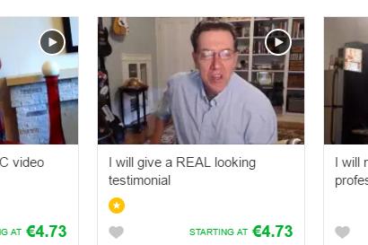 Fake scam artist on Fiverr