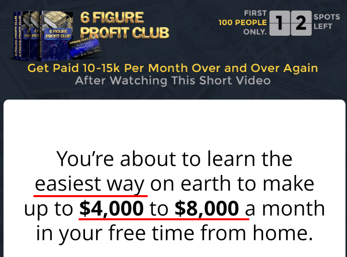 6 figure profit club