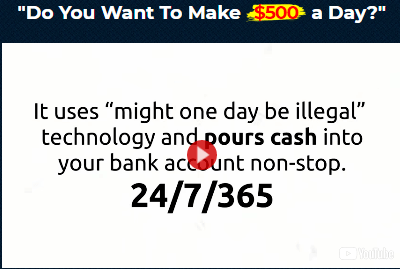money sucking website system make $500 per day scam