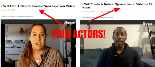 paid actors