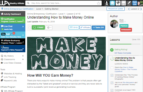 make money wealthy affiliate
