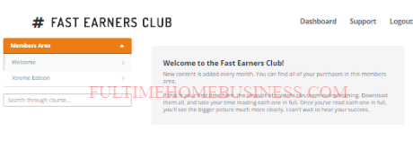 fast earners club scam - the members area