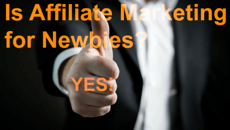 is affiliate marketing for begginers? Yes