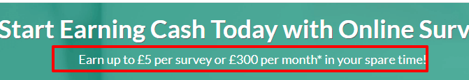 earn up to £5 per survey and £300 a month with surveyspotter
