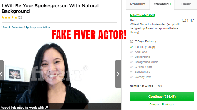 cb cash code fake paid fiverr actor
