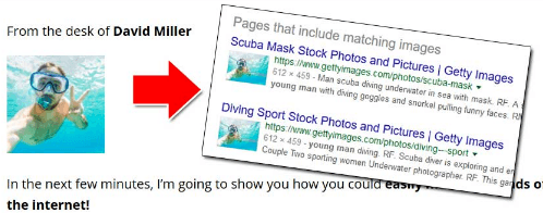 profit genesis reloaded 2.0 the owner is fake using fake scuba diving stock imagery