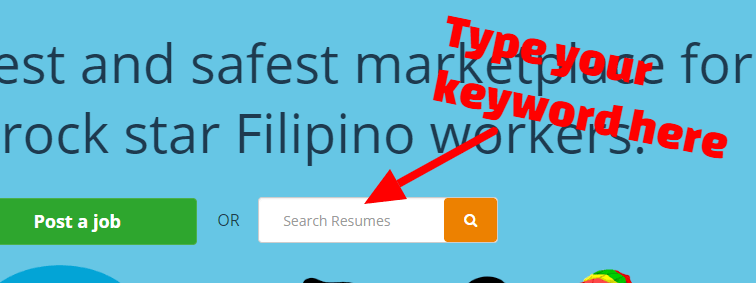 onlinejobs search resumes