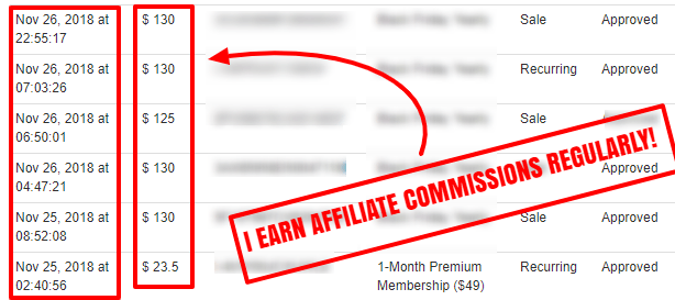 I earn affiliate commissions regularly