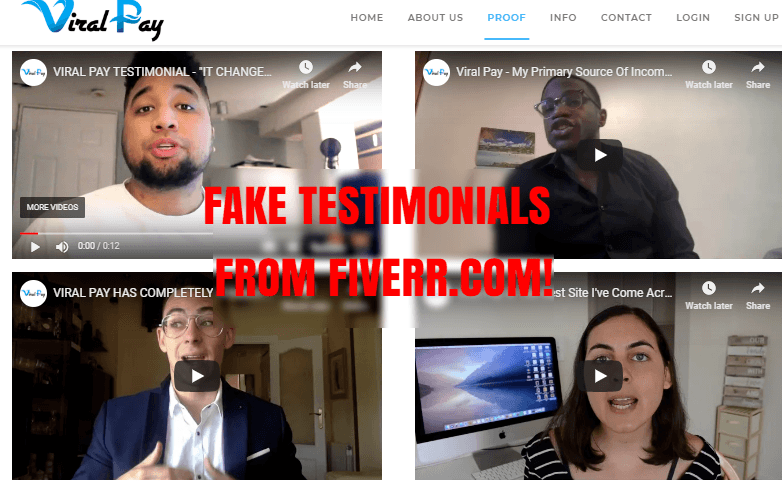 fake testimonials from fiverr
