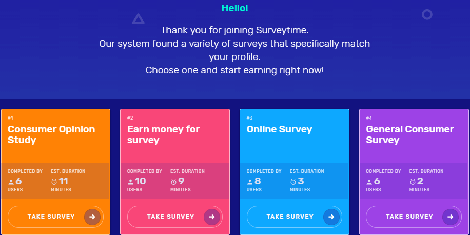 surveytime surveys
