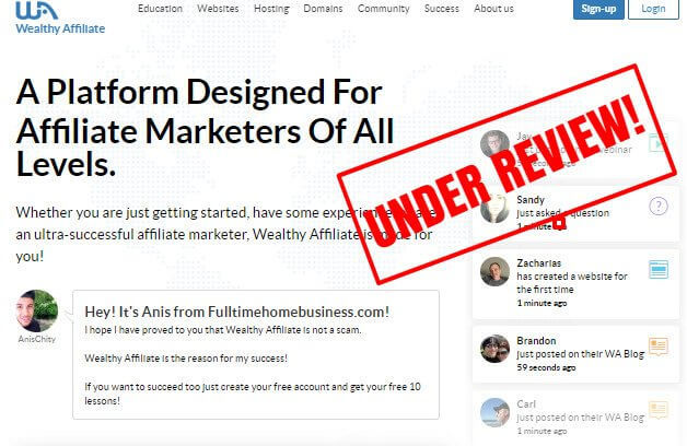wealthy affiliate under review