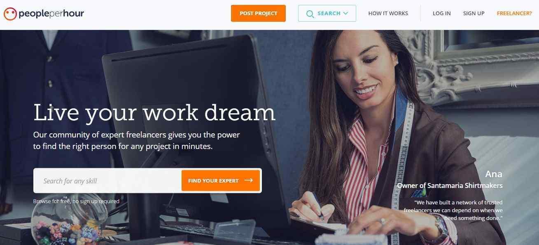 People Per Hour Webpage
