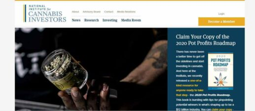 National Institute For Cannabis Investors homepage