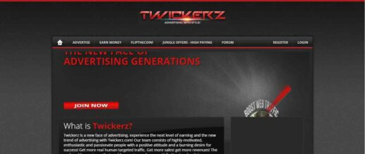 Twickerz.com Homepage