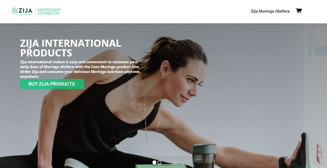 Is Zija International A Pyramid Scheme website homepage