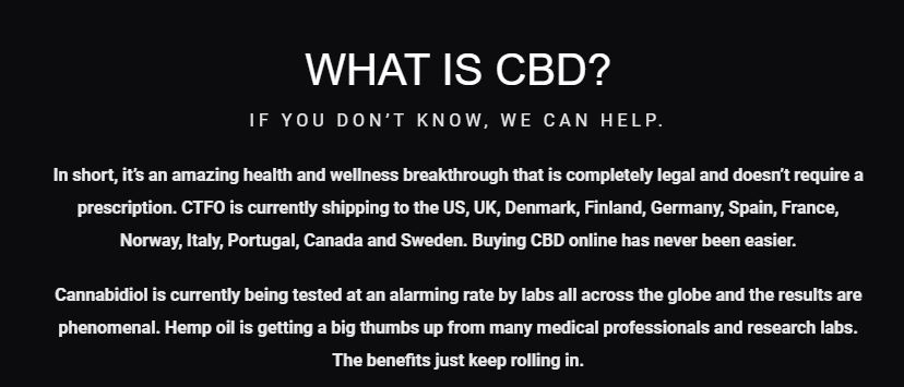 Is CTFO A Scam CBD